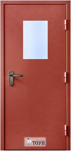 дверь противопожарная металлическая одностворчатая со стеклопакетом цена прайс