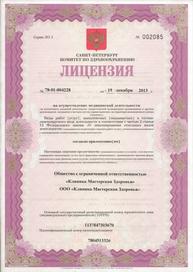 Лицензия клиники на Лесной Мастерская здоровья