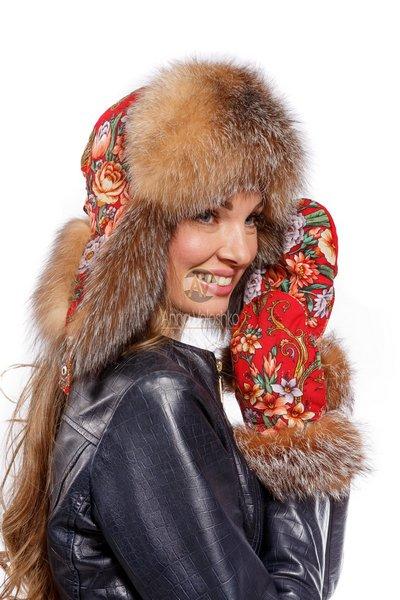 Варежки и ушанка от Анны Волошко
